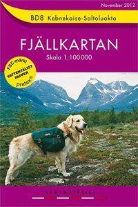 Fjällkartan BD8 Schweden Trekking- und Wintersportkarte 1:100.000