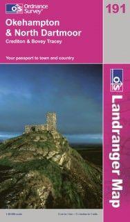 Landranger 191 Okehampton & North Dartmoor, Großbritannien Wanderkarte 1:50.000