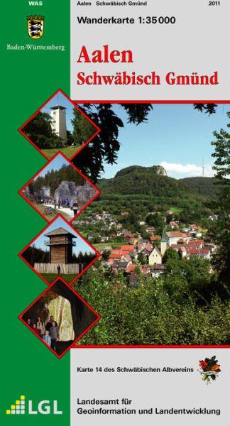 Aalen - Schwäbisch Gmünd Wanderkarte 1:35.000 Schwäbischer Albverein