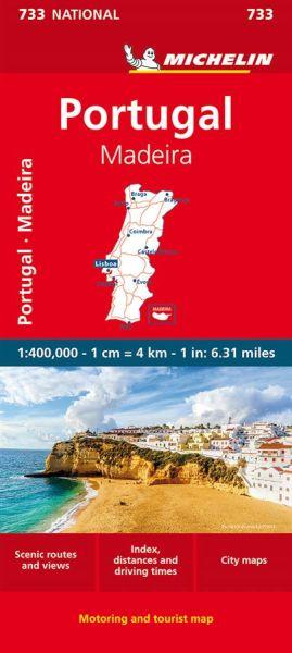 Michelin 733 Portugal, Madeira; Straßenkarte 1:400.000