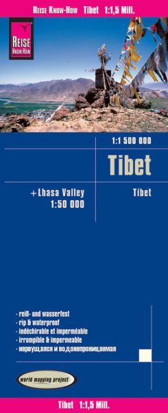 Tibet Landkarte 1:1.500.000 und Lhasa-Valley 1:50.000, Reise Know-How