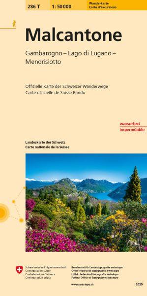 286 T Malcantone Wanderkarte 1:50.000 - Swisstopo