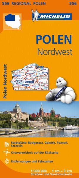 Michelin 556 Polen Nordwest Straßenkarte 1:300.000
