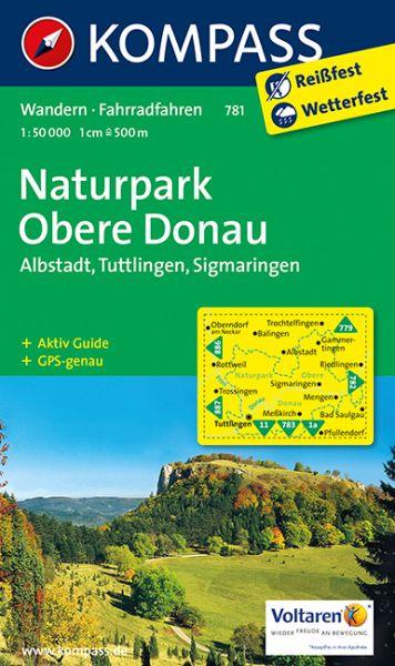 Kompass Karte 781, Naturpark Obere Donau 1:50.000, Wandern