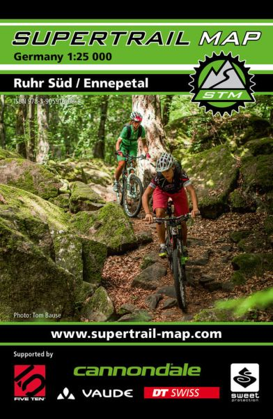 Supertrail Map Ruhr Süd / Ennepetal Mountainbike-Karte 1:25.000, Wetterfest