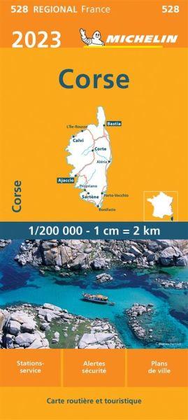 Michelin regional 528 Corse / Korsika wetterfeste Karte 1:200.000