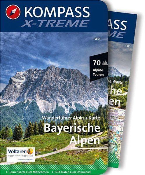 Bayerische Alpen mit Karte, Kompass x-treme Wanderführer