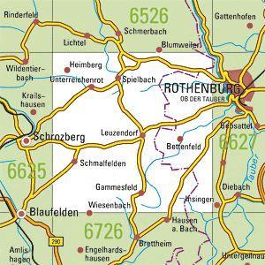 6626 SCHROZBERG OST topographische Karte 1:25.000 Baden-Württemberg, TK25