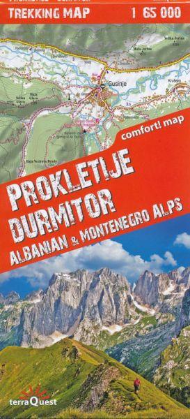 Terra Quest Prokletije Durmitor, Albanien &Montenegro Alps Trekking Map 1:65.000