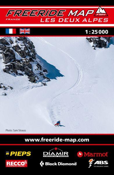 Freeride Map Les Deux Alpes, Skitourenkarte 1:25.000