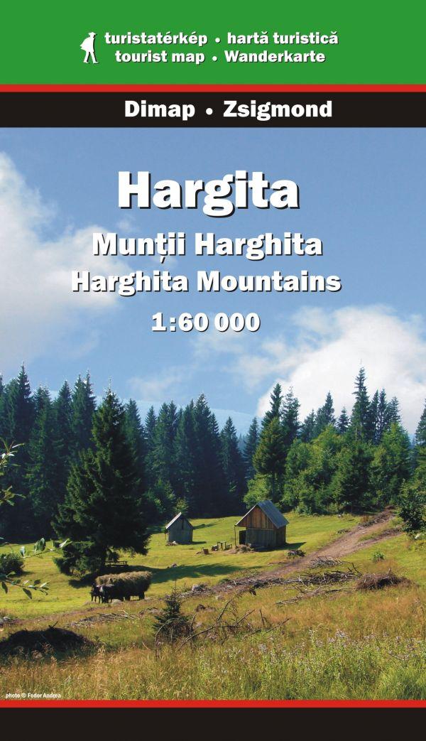 Karpaten Wanderkarte: Hargita / Muntii Harghita 1:65.000, Dimap