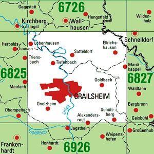 6826 CRAILSHEIM topographische Karte 1:25.000 Baden-Württemberg, TK25