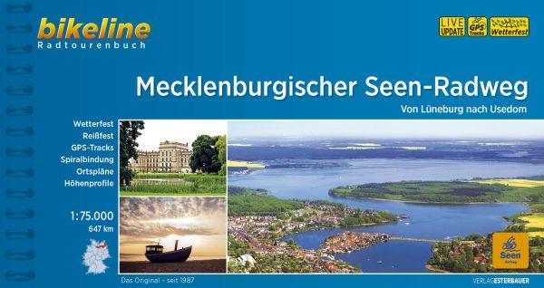Mecklenburgischer Seen-Radweg, Bikeline Radwanderführer mit Karte, Esterbauer