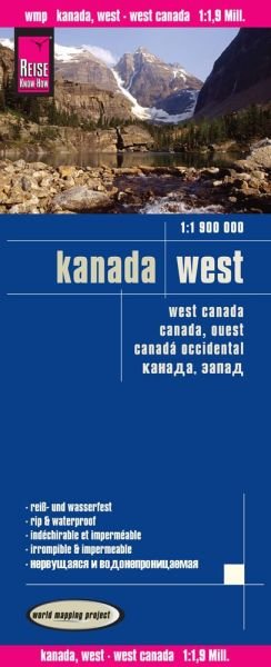 Kanada West Landkarte 1:1.900.000, Reise Know-How