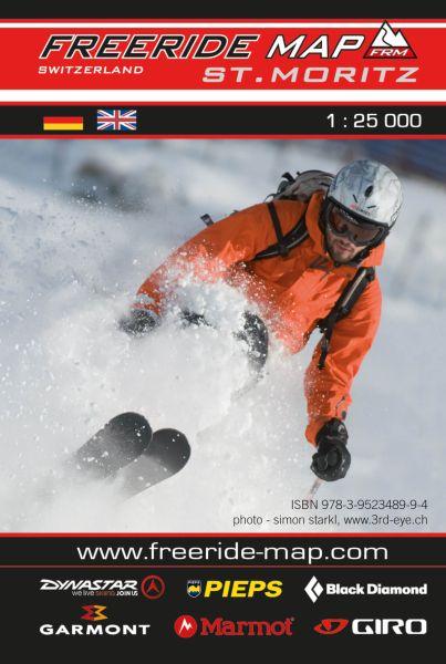 Freeride Map St. Moritz, Skitourenkarte 1:25.000