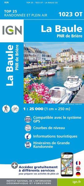 IGN 1023 OT La Baule, PNR de Briere, Frankreich Wanderkarte 1:25.000