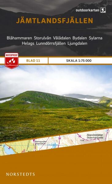 Jämtlandsfjällen, Outdoorkartan Blatt 11, Schweden Wanderkarte 1:75.000