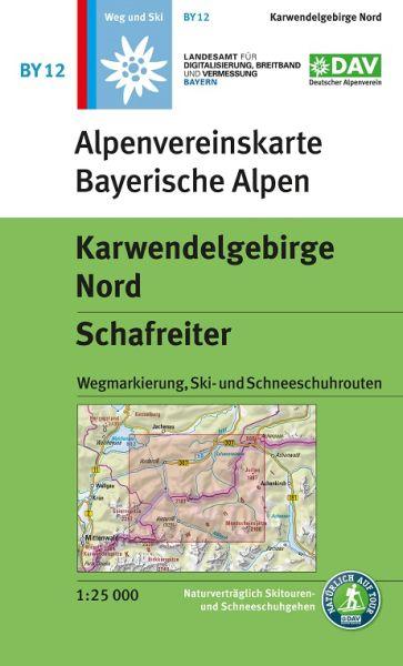 Alpenvereinskarte BY12 Karwendelgebirge Nord Wanderkarte 1:25.000