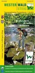 Westerwald-Steig topographische Freizeitkarte 1:50.000