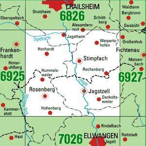 6926 STIMPFACH topographische Karte 1:25.000 Baden-Württemberg, TK25