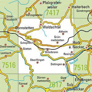 7517 DORNSTETTEN topographische Karte 1:25.000 Baden-Württemberg, TK25