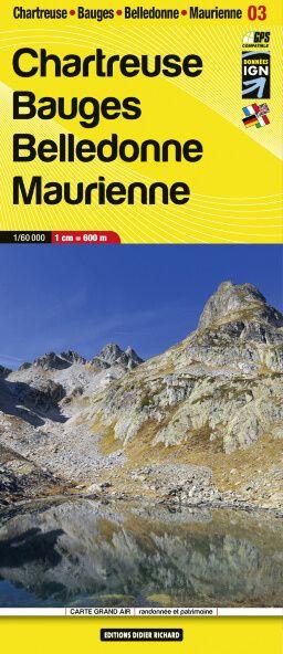 Editions Didier Richard 03 Chartreuse / Bauges / Belledonne, Wanderkarte 1:60.000
