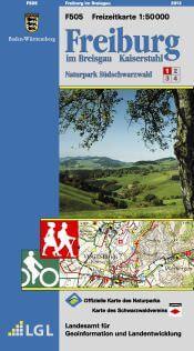 Freiburg im Breisgau, Kaiserstuhl Freizeitkarte in 1:50.000 – F505