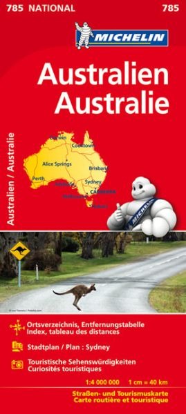 Michelin Straßenkarte Australien 1:4.500.000