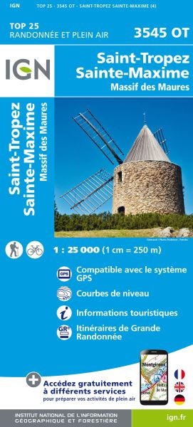 IGN 3545 OT St-Tropez, Ste-Maxime, Frankreich Wanderkarte 1:25.000