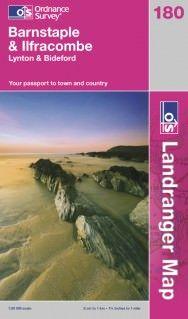 Landranger 180 Barnstaple & Ilfracombe, Großbritannien Wanderkarte 1:50.000