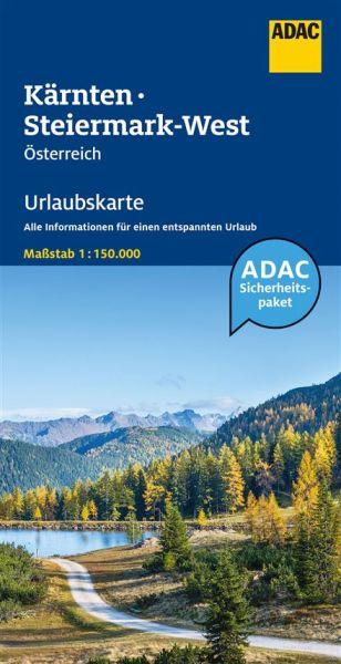 Kärnten & Steiermark West Urlaubskarte 1:150.000 vom ADAC - Österreich Bl. 4
