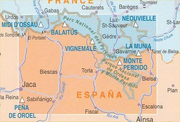 Rando Blatt 12: Gavarnie-Ordesa, Wanderkarte Pyrenäen 1:50.000