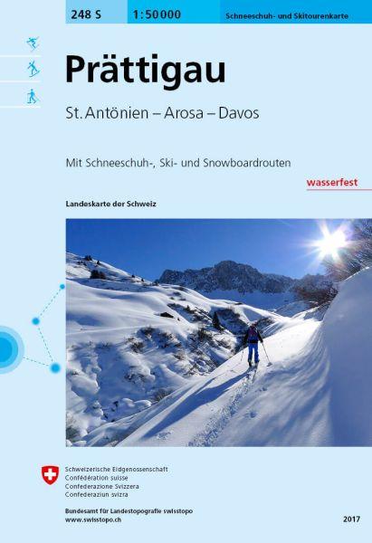 248 S Prättigau, topographische Skitourenkarte 1:50.000
