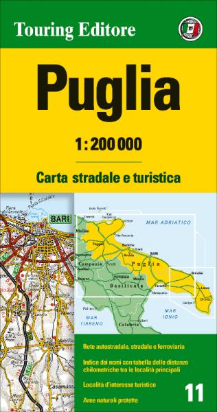 Apulien Straßenkarte 1:200.000, TCI 11, Puglia