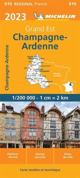 Michelin regional 515 Champagne-Ardennen Straßenkarte 2020 1:200.000