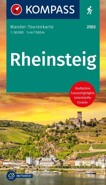 Kompass Karte 2503: Rheinsteig 1:50.000, Wander-Tourenkarte