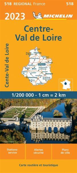 Michelin regional 518 Zentralfrankreich wetterfeste Karte 1:200.000