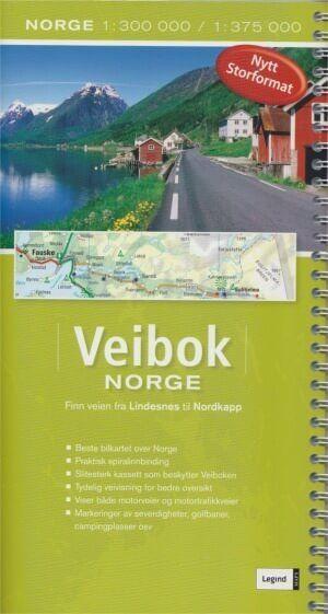 Norwegen Autoatlas - Veibok Norge 1:300.000 / 1:375.000, Legind Maps