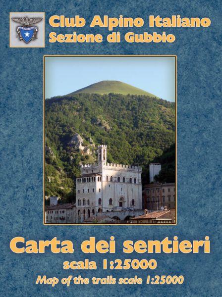 Club Alpino Italiano Sektion Gubbio - Umbrien Wanderkarte 1:25.000