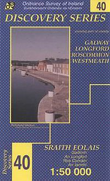 OSI 40 Galway, Longford, Roscommon, Westmeath Wanderkarte 1:50.000