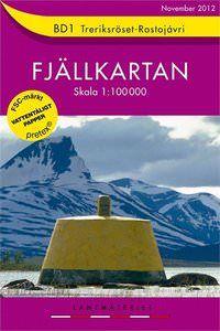 Fjällkartan BD1 Schweden Trekking- und Wintersportkarte 1:100.000