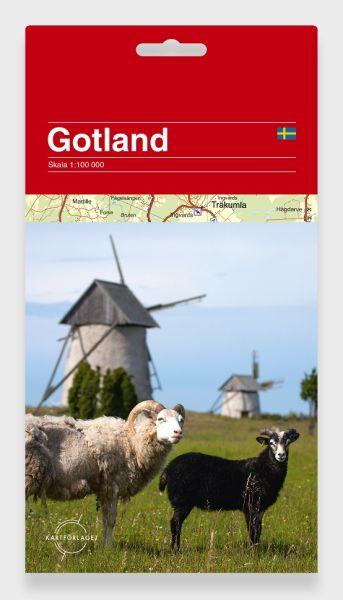 Gotland Freizeitkarte 1:100.000 mit Radwegen und vielen touristischen Infos