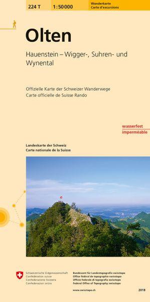 224 T Olten Wanderkarte 1:50.000 - Swisstopo