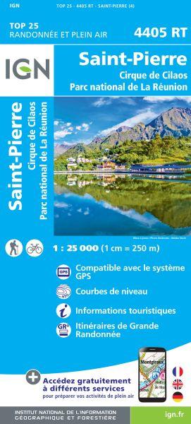 IGN 4405 RT Saint-Pierre, La Reunion topographische Wanderkarte 1:25.000, IGN