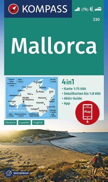 Kompass Karte 230, Mallorca Wander- und Radkarte 1:75.000