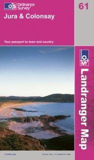 Landranger 61 Jura & Colonsay, Großbritannien Wanderkarte 1:50.000
