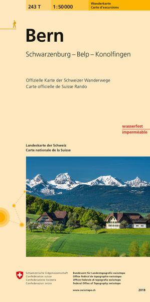 243 T Bern Wanderkarte 1:50.000 - Swisstopo