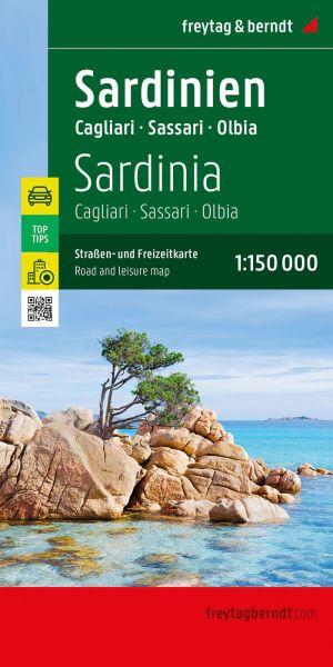 Sardinien - Cagliari Straßenkarte 1:150.000, Freytag und Berndt