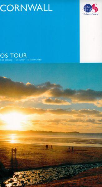 OS Tour Map Cornwall Freizeitkarte mit Radrouten 1:100.000