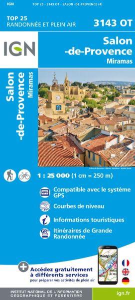 IGN 3143 OT Salon-de-Provence, Miramas, Frankreich Wanderkarte 1:25.000